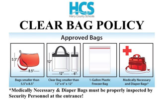 HCS Announces Athletics Clear Bag Policy Photo