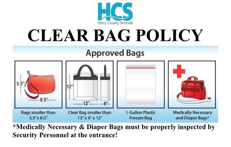 HCS Clear Bag Policy Photo