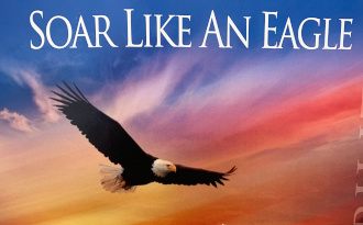 Eagle flying under soar like an eagle