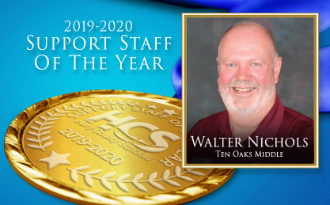 TOMS Own, Walter Nichols, Named HCS Support Staff of the Year