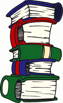 clip art of school books