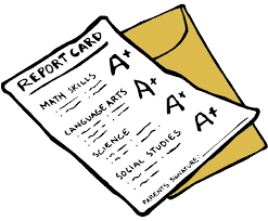 School Report Card Clip Art