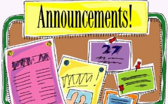 image of announcements clipart