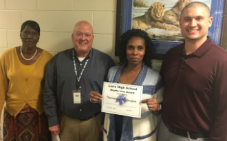 Support Staff of the Month - Congratulations to Thomasena Washington!