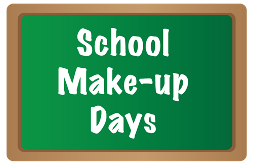 School Make-Up Days Announced