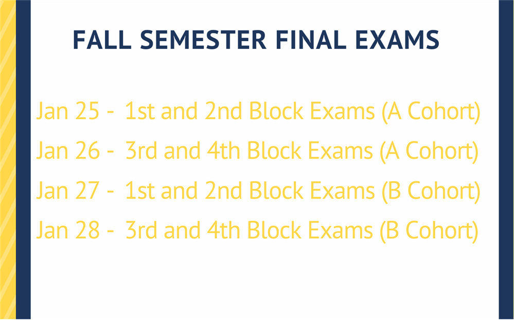 Final Exam Test Dates