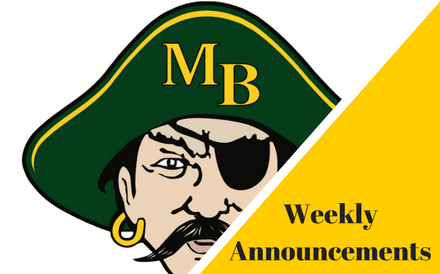MBHS Weekly Announcements