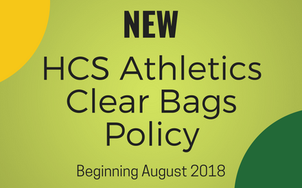 athletics bags policy