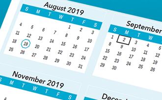 2019-2020 School calendar is now available