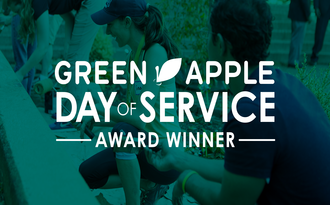 Proud to be named 2018 #GreenAppleDay of Service Award winner!
