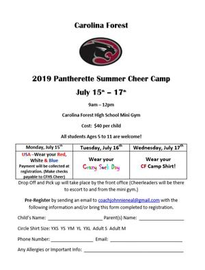 Pantherette Summer Camp