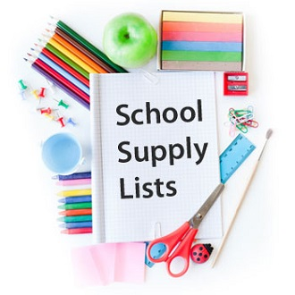 School Supply List for 2018-2019