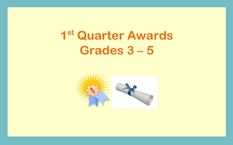 1st Quarter Awards: 10/30/19