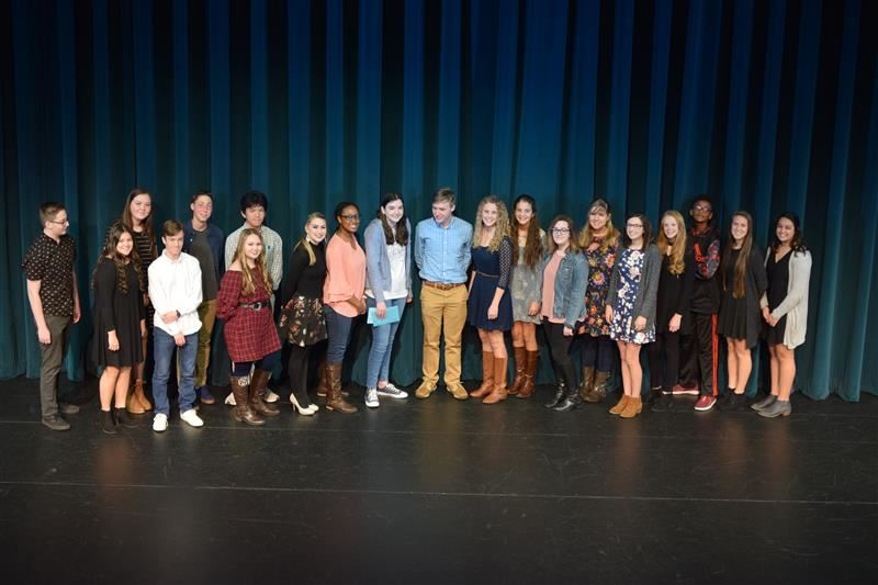 Photo of Poetry Out Loud competitors