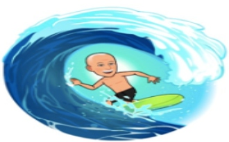 Image of Bitmoji Homer for Surfing Seaside News