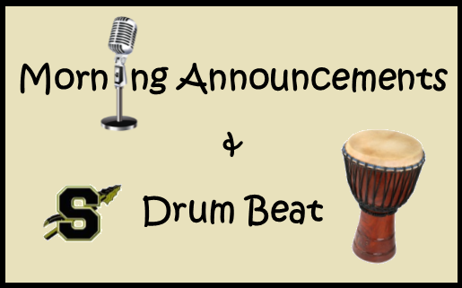 Drum Beats and Announcements