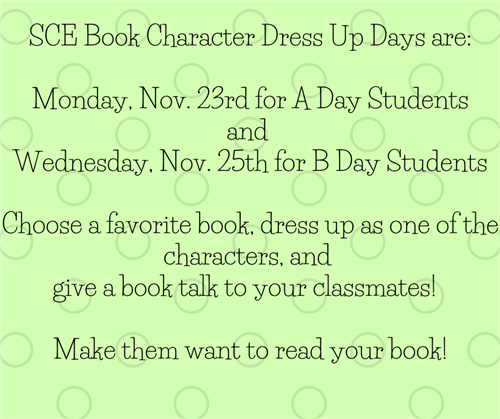 Book Character Dress Up Days
