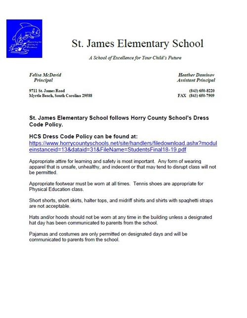 Parent Resources / Horry County Schools Dress Code