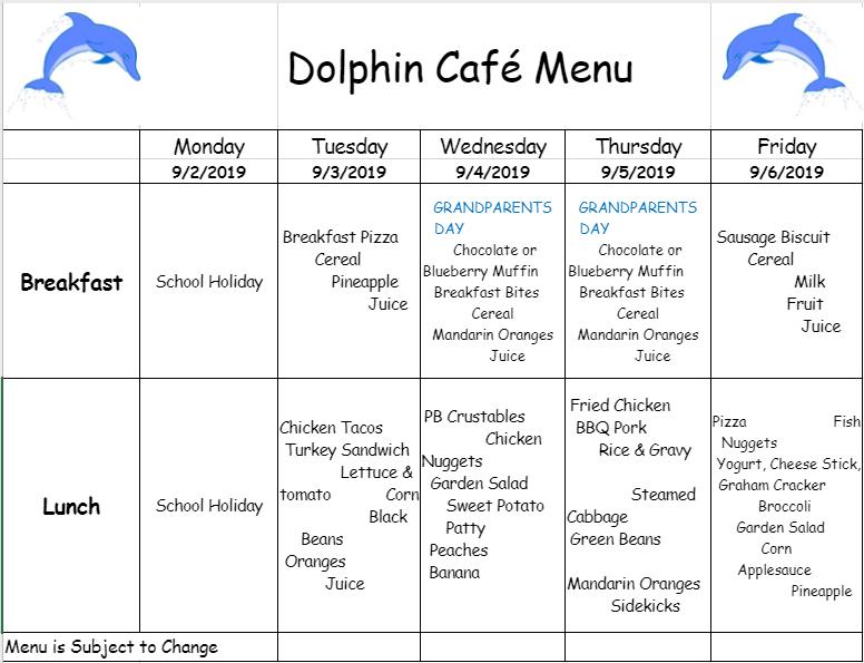 Dolphin Cafe Menus / Dolphin Cafe Menus