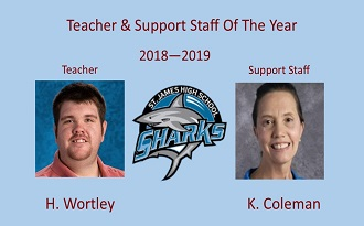 2018 2019 Teacher & Staff of the Year