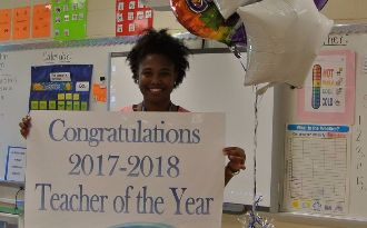Photo of Bianca Carter, SJM's 2017 Teacher of the Year.