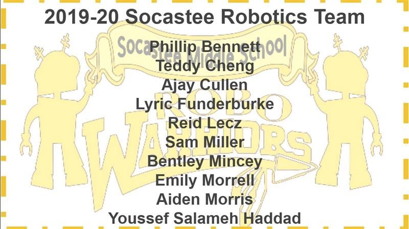 2019-20 Robotics Team