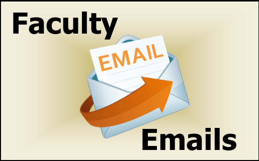 Faculty emails banner