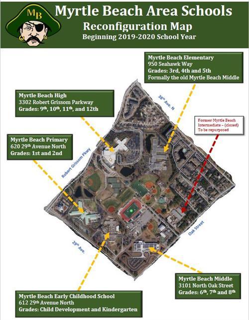 Myrtle Beach Area Schools Map