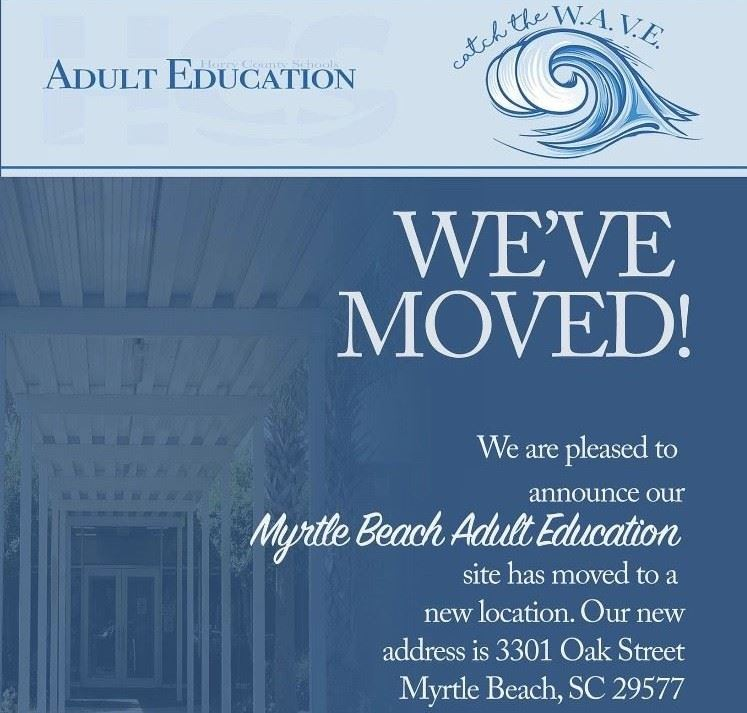 The Myrtle Beach Campus has moved!