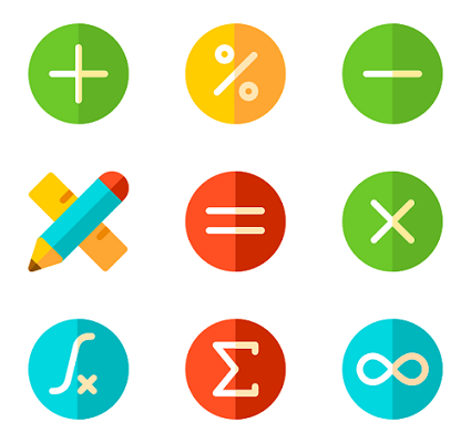 image of math symbols