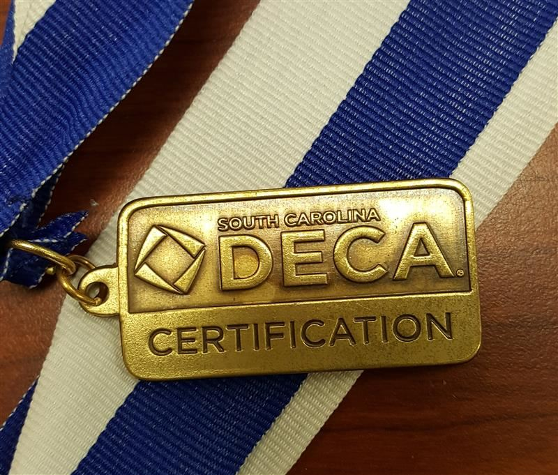 image of DECA medal