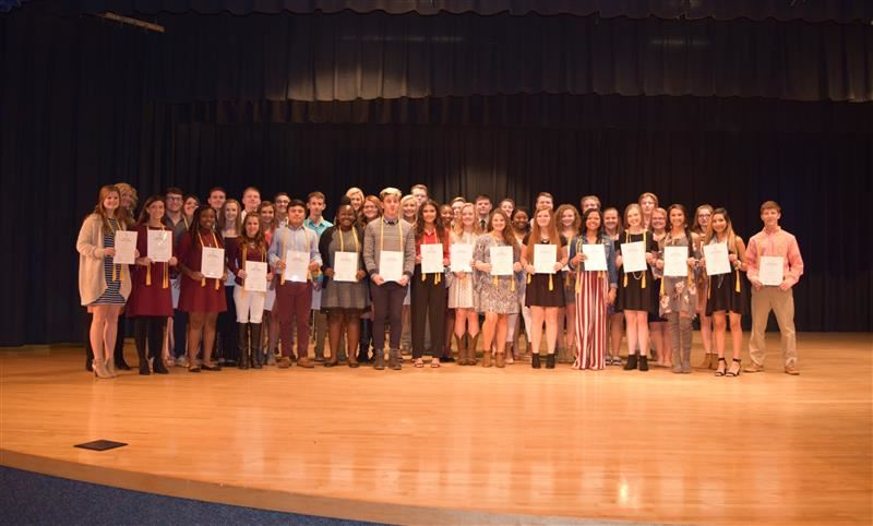 image of NHS inductees