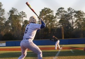 image of baseball player batting