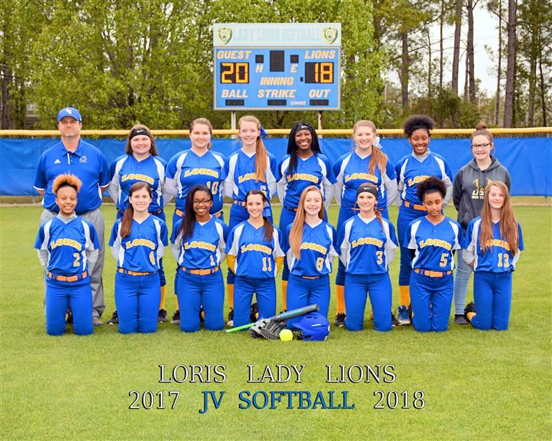 image of JV softball team