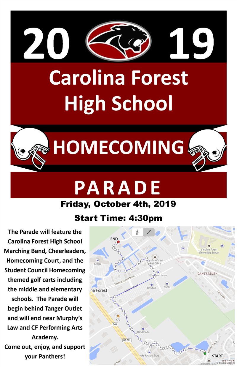 Homecoming 2019 Flyer