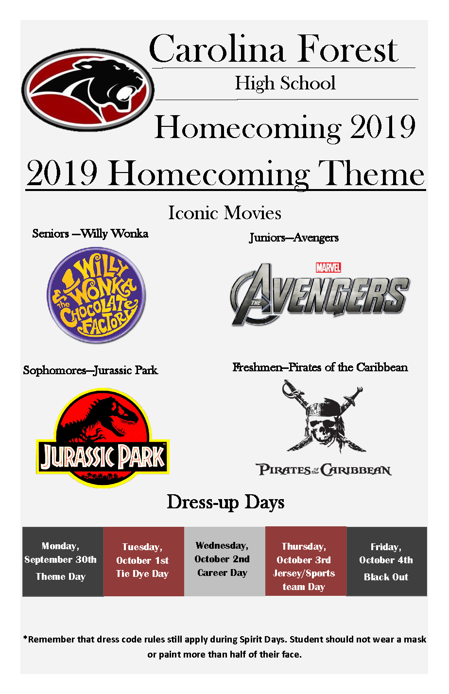 Homecoming Week Theme 2019