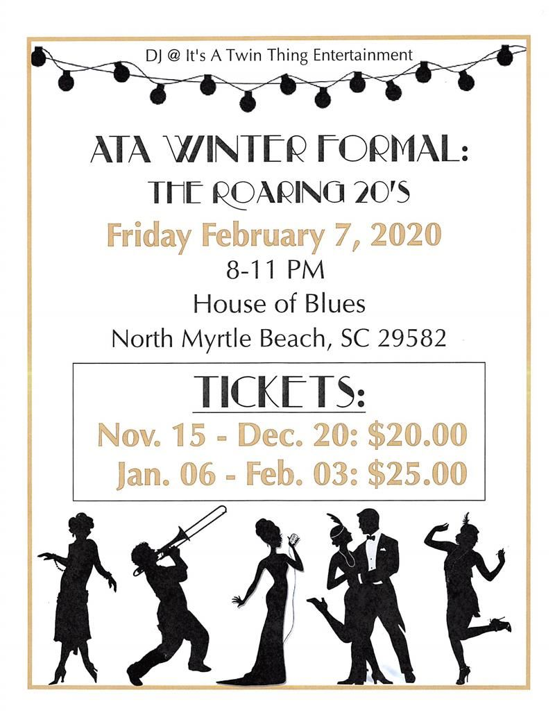 Image of flyer for the winter formal