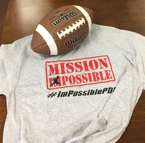 Mission Possible Tshirt with Football