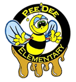 Bee in a circle that says Pee Dee Elementary