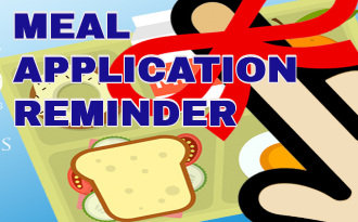 Meal Application 2020-Reminder!