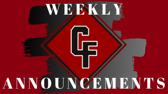 Weekly Announcements / Weekly Announcements
