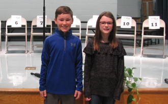 Congratulation to the CES Spelling Bee winners, Will (winner) and Rylee (runner-up).