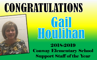 Congratulations to CES Support Staff of the Year, Mrs. Gail Houlihan
