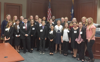 Forestbrook Middle Wins Regional Mock Trial