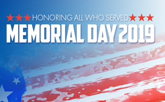 HCS will be closed on May 27, in observance of Memorial Day