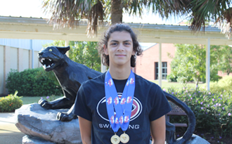 Carolina Forest High School's Harrison Clinton claims two state swimming titles