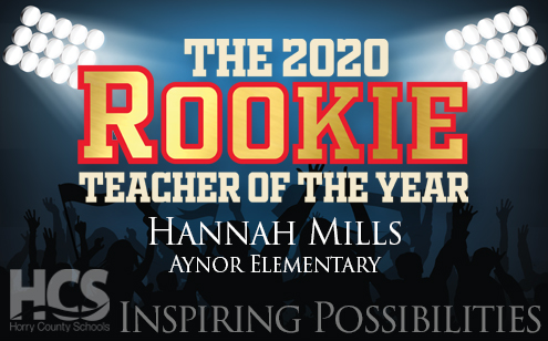 Mills Named 2020 Rookie Teacher Of The Year