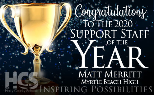 Merritt Named 2020 Support Staff of the Year
