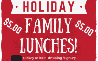 Holiday Lunches December 12th