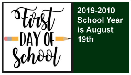 1st Day of School 2019-2010